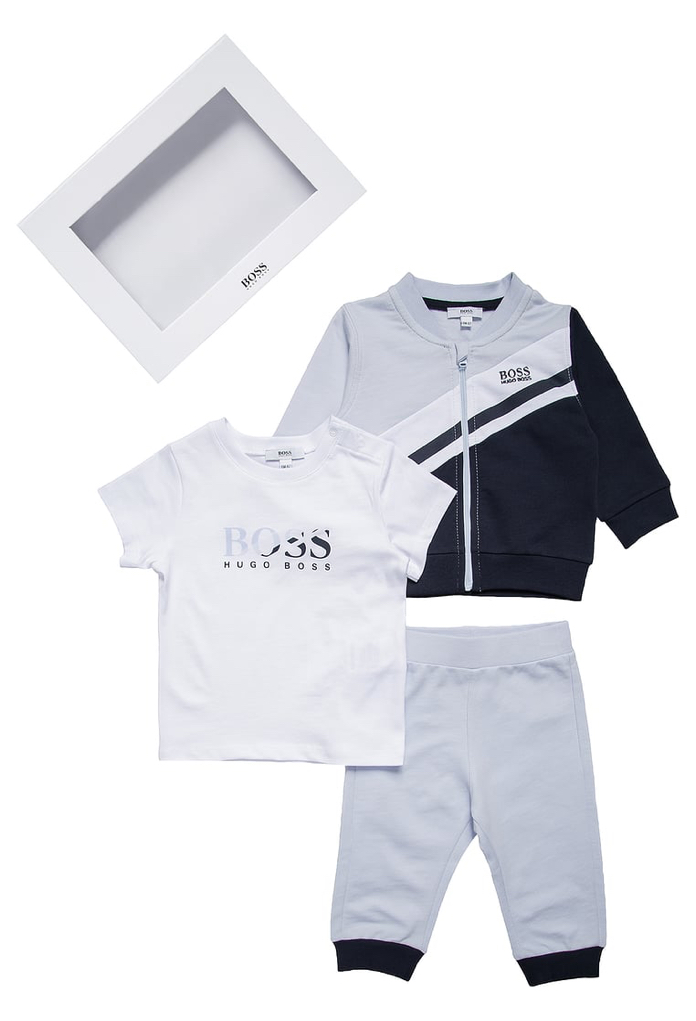 Coffret jogging gris bleu Hugo Boss