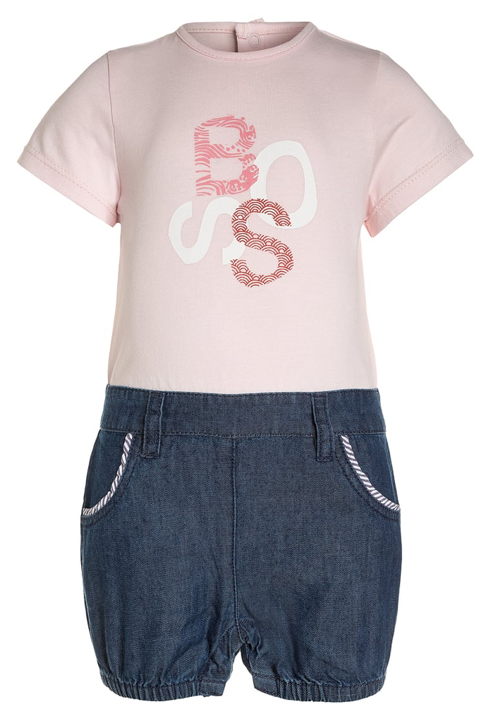 Combinaison rose et short en jeans Hugo Boss