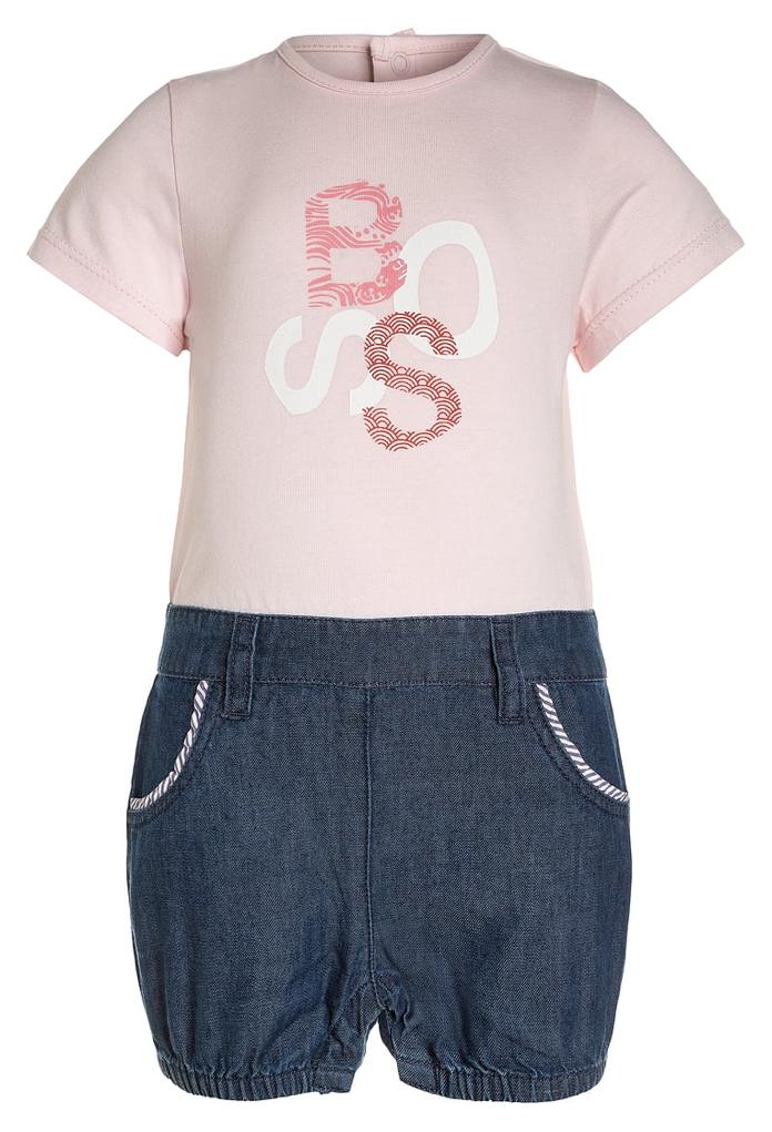 Combinaison rose et short en jeans Hugo Boss
