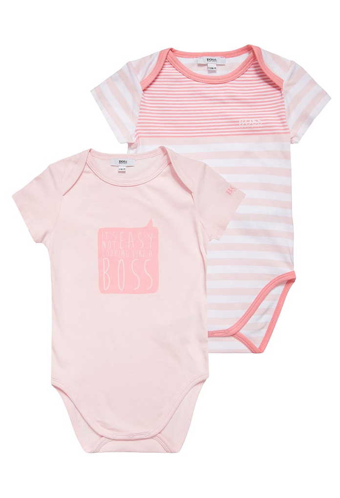 Lot de 2 bodies rose Hugo Boss