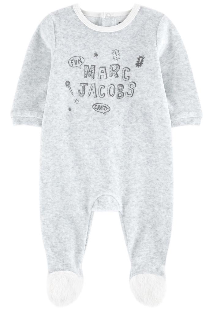 Pyjama velours gris Crazy