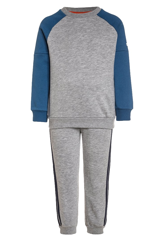 Survêtement Gris chiné et bleu Adidas