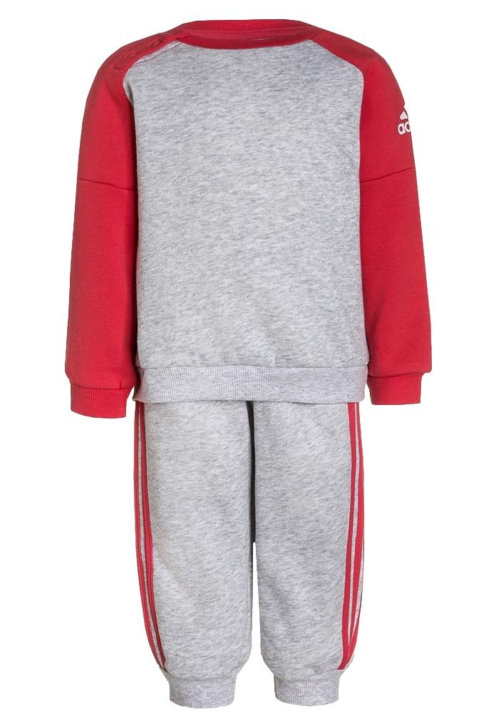 Survêtement Gris clair et rouge Adidas