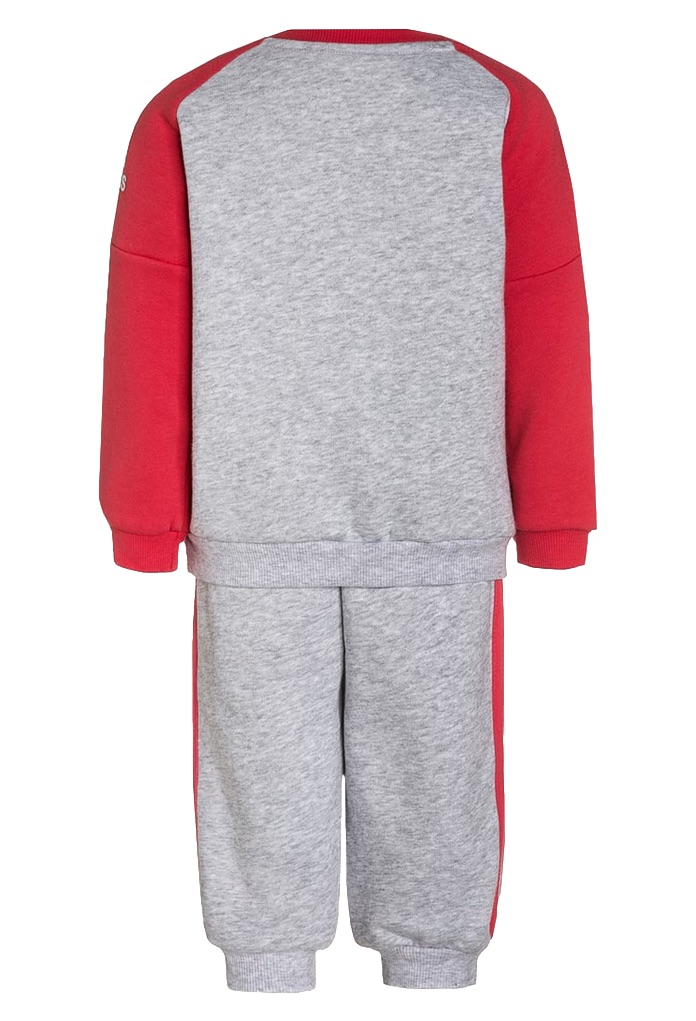 surv tement gris clair et rouge pour b b de la marque adidas. Black Bedroom Furniture Sets. Home Design Ideas