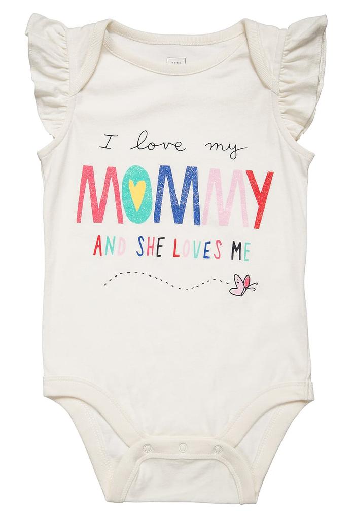 Body blanc I love my mommy Gap