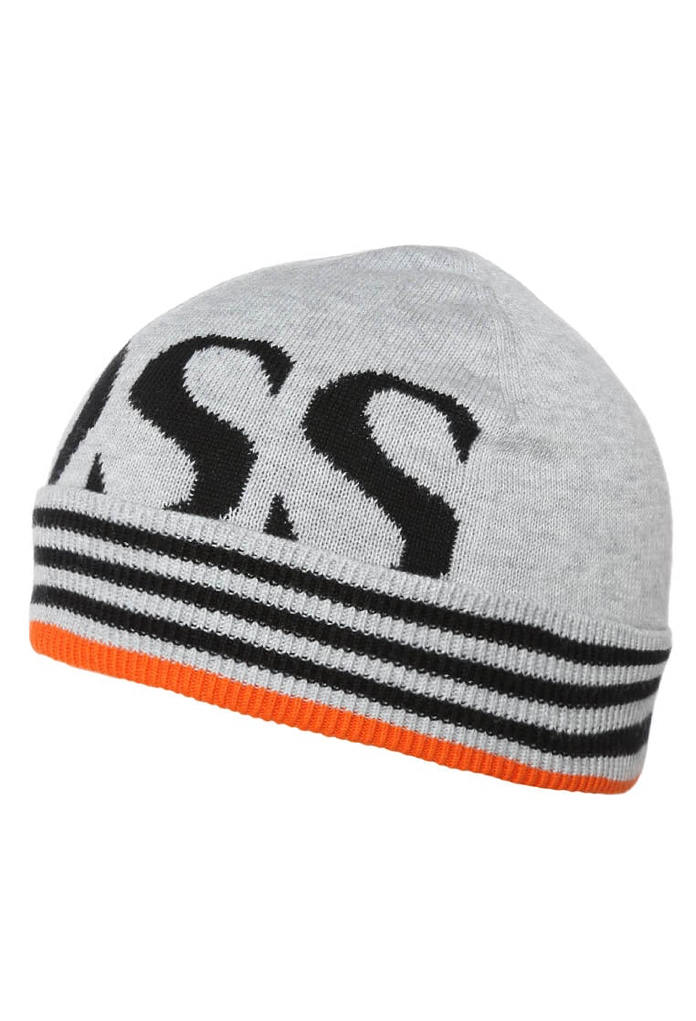 Bonnet gris/ orange pour enfant Hugo Boss
