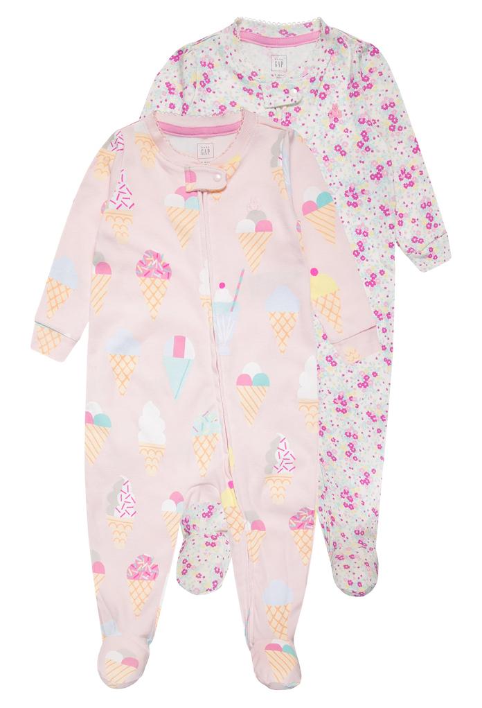 Pack : 2 pyjamas rose funny Gap