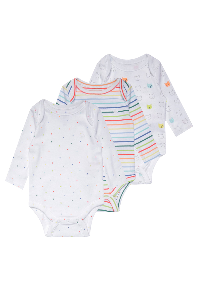 Pack : 3 bodies blanc multicolore Gap