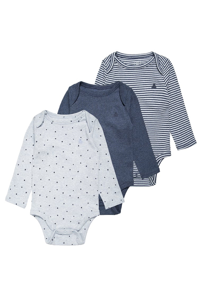 Pack : 3 bodies navy heather Gap