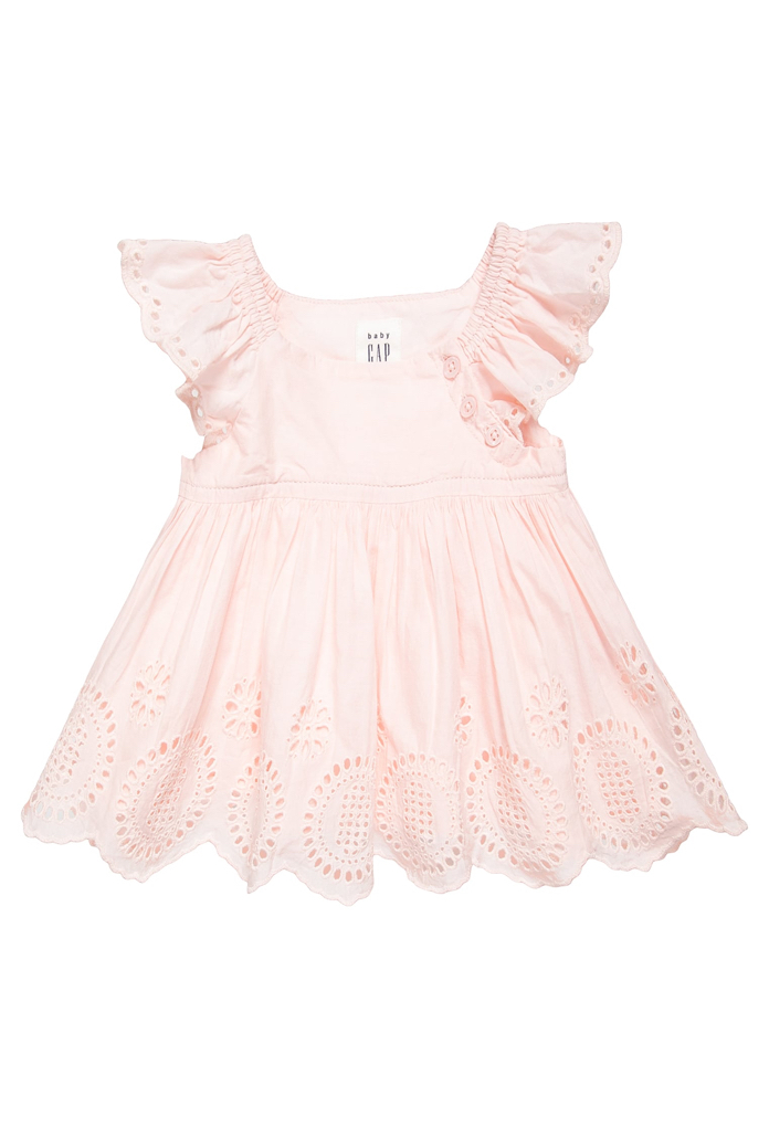 Robe en dentelle rose cameo Gap