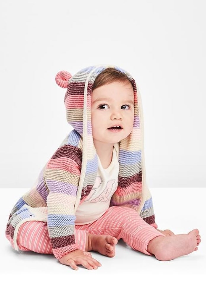 Gilet rayé rose Stripe Bear