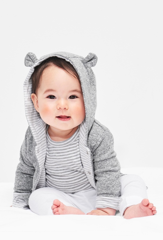 Gilet réversible gris Bear