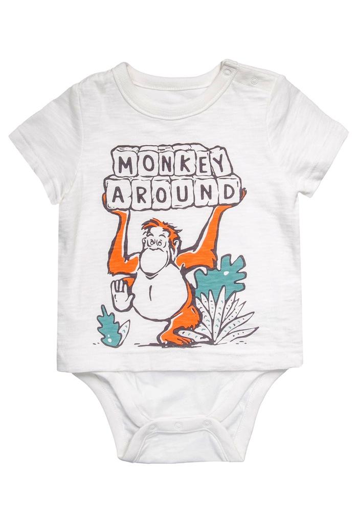 T-Shirt blanc Monkey Around