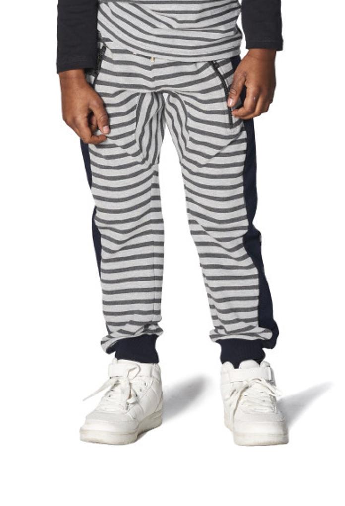 Pantalon de survêtement gris rayé Gold