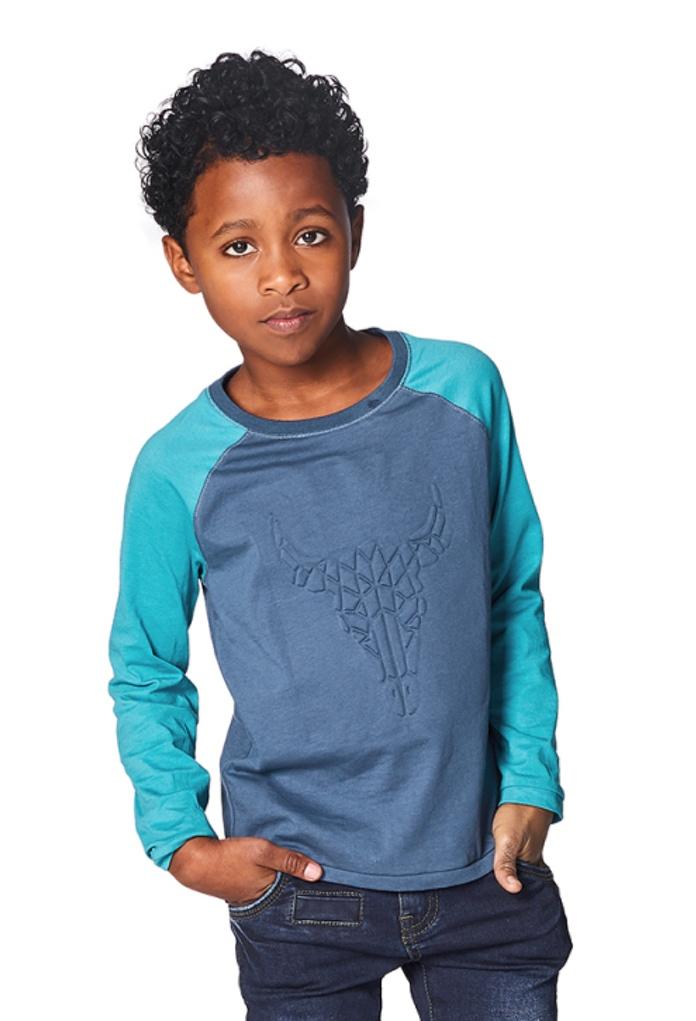 T-Shirt bleu Harahan