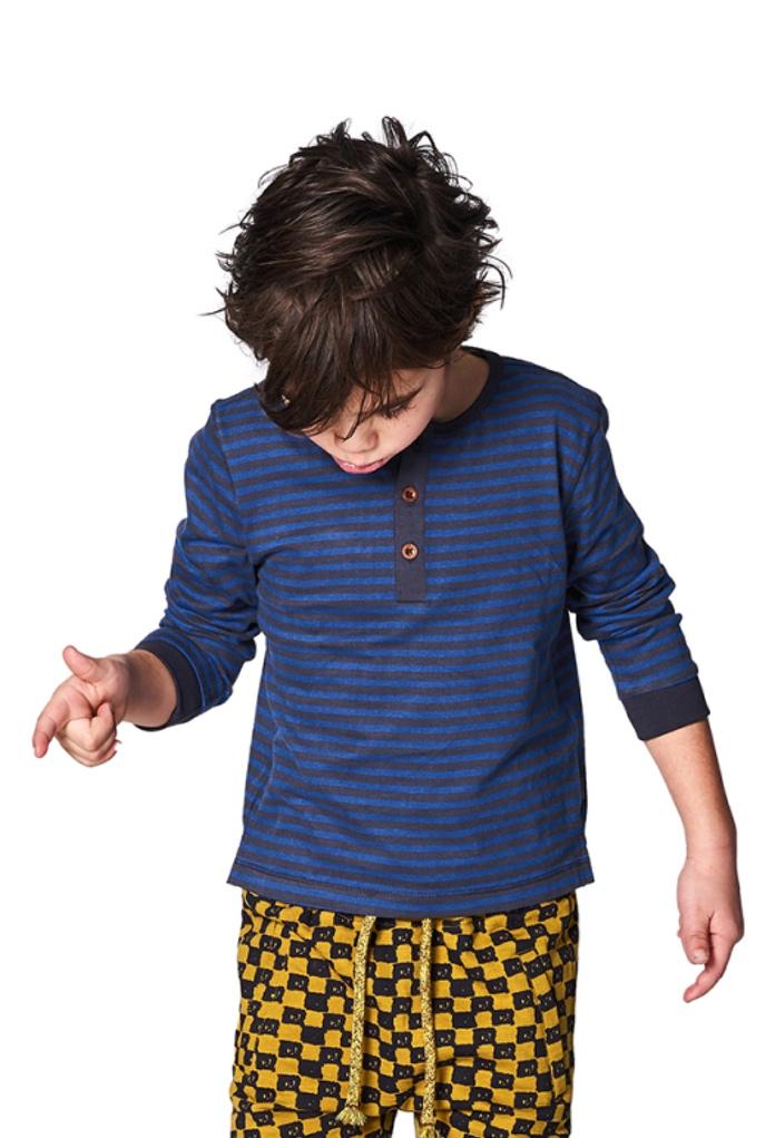 T-Shirt bleu rayé Irsina