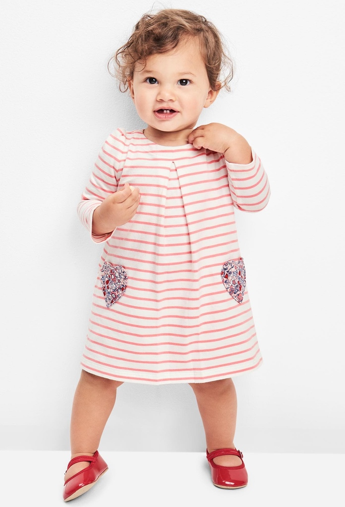 Robe rayée Heart Pocket Gap