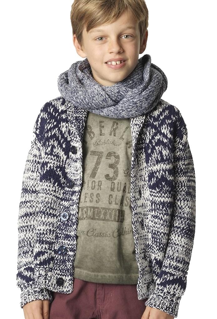 Cardigan tricot jacquard Chiné
