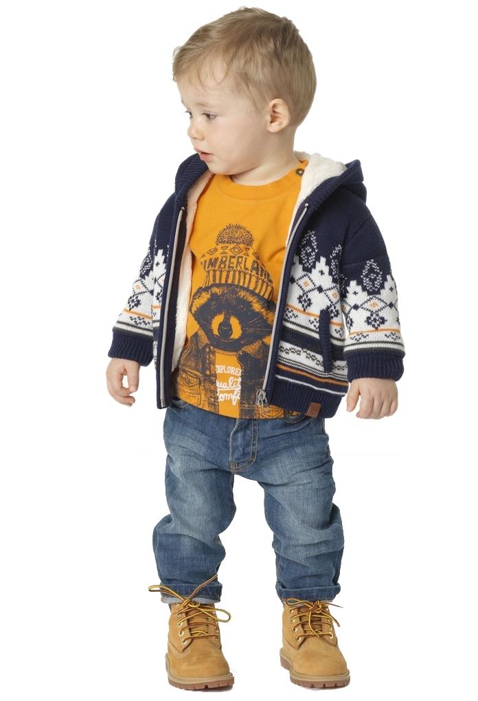 Cardigan tricot jacquard bleu