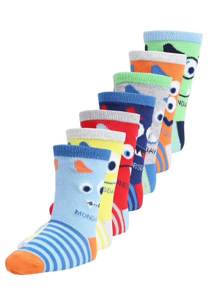 Pack de 7 paires chaussettes Monsters