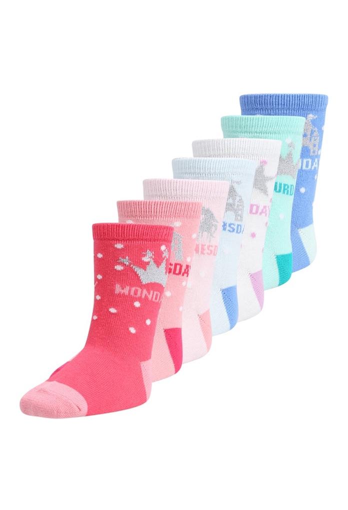Pack de 7 paires chaussettes Princesse