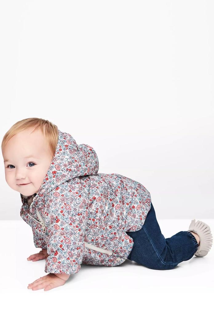 Manteau doudoune fleuri Kimono pour bébé, à capuche de la marque Gap 8bf4b490b1b