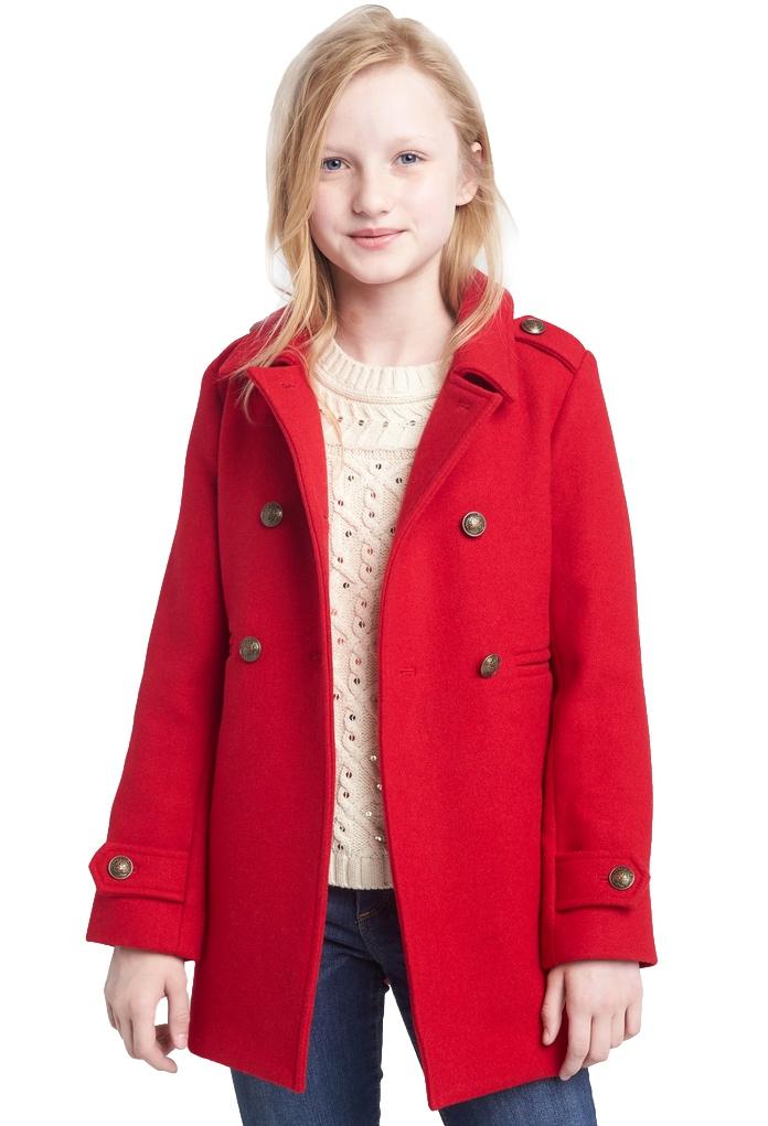 Manteau en laine rouge