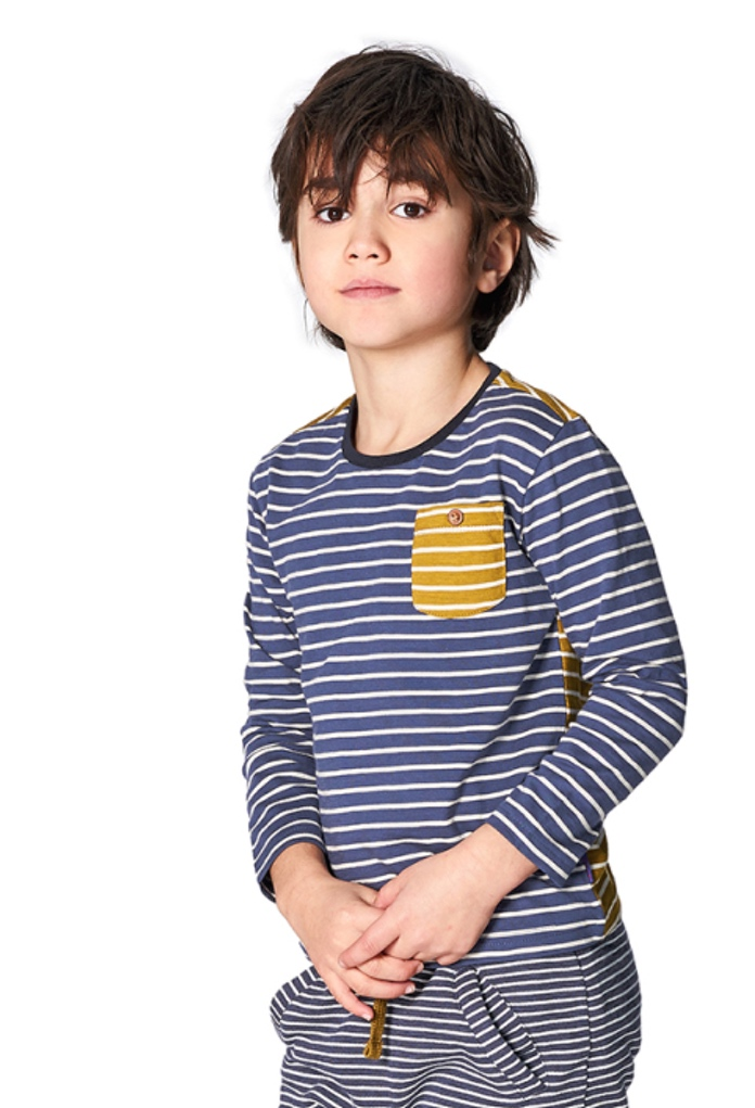 T-Shirt bicolore rayé Gera