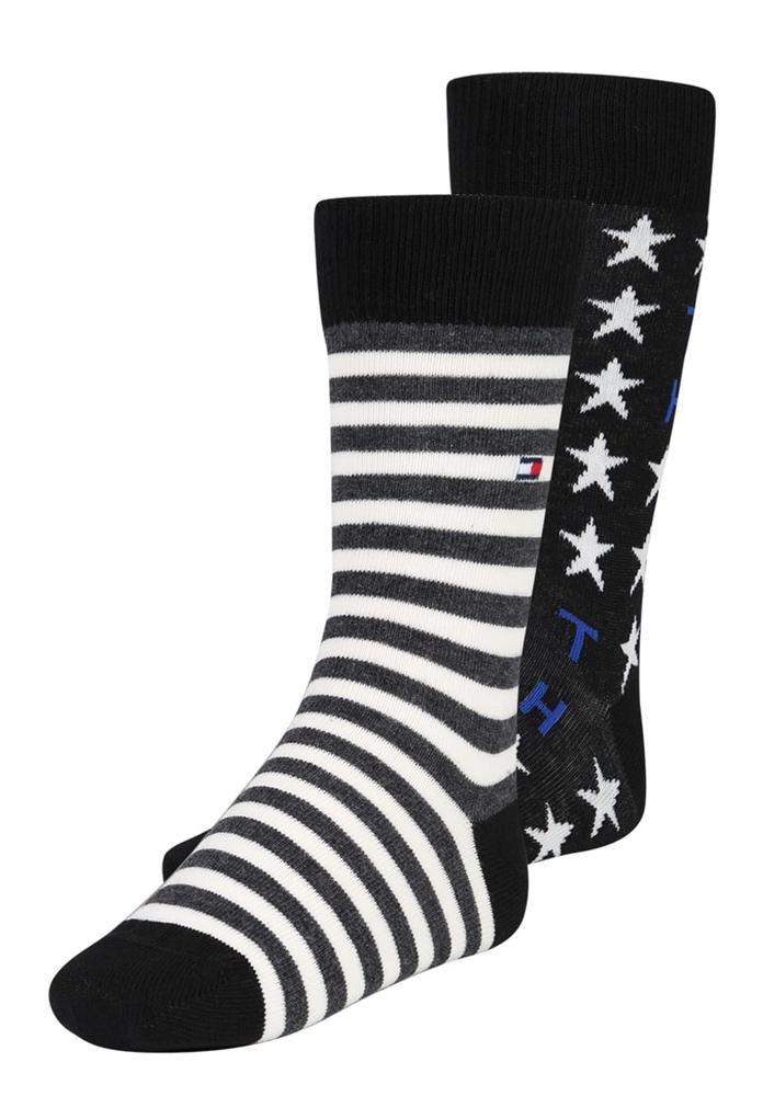 Pack de 2 paires chaussettes Tommy Black