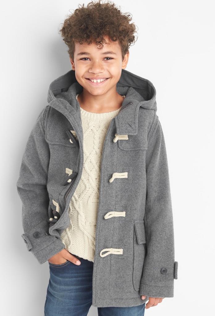 Duffle Coat en laine gris